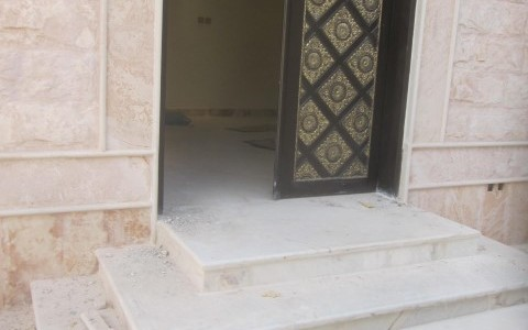 Riyadh villas entrance geoinveste for Villa rose riyadh interior design